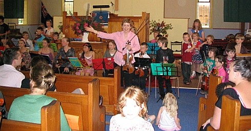 Marion at her Student Christmas Concert
